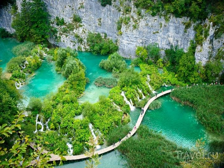 Плитвицкие озера на территории Хорватии