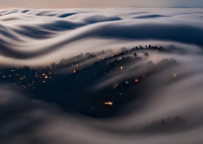 снимки волн тумана