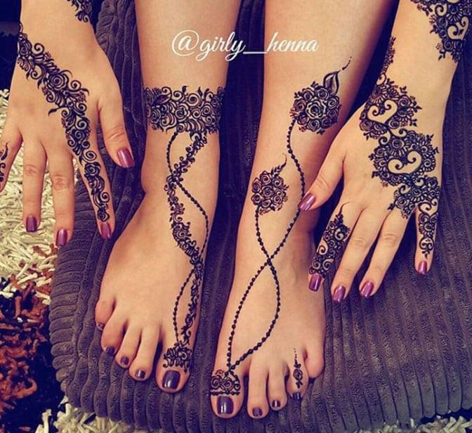 Рисунки хной – красивые руки, ноги на каждый день
