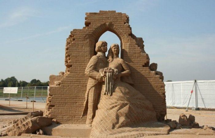 Скульптуры из песка - удивительная красота