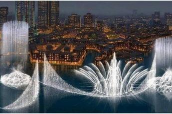 Фонтан в Дубае под песню Уитни Хьюстон. Это Божественное зрелище!