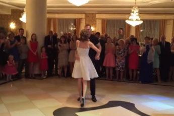 Гости навсегда запомнят этот свадебный танец