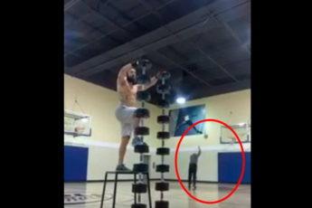 Пожилой баскетболист украл славу у гимнаста