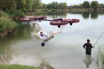 Летающий гамак впечатлил интернет