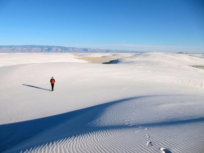 Белые пески Национального памятника в Нью-Мексико