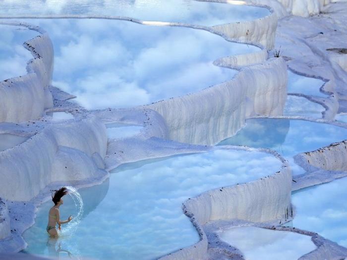террасные термальные источники Хиераполис-Памуккале