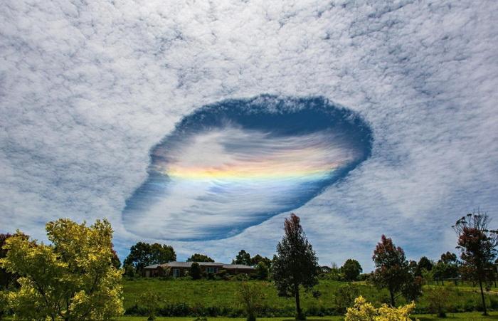 Зона пробития облаков