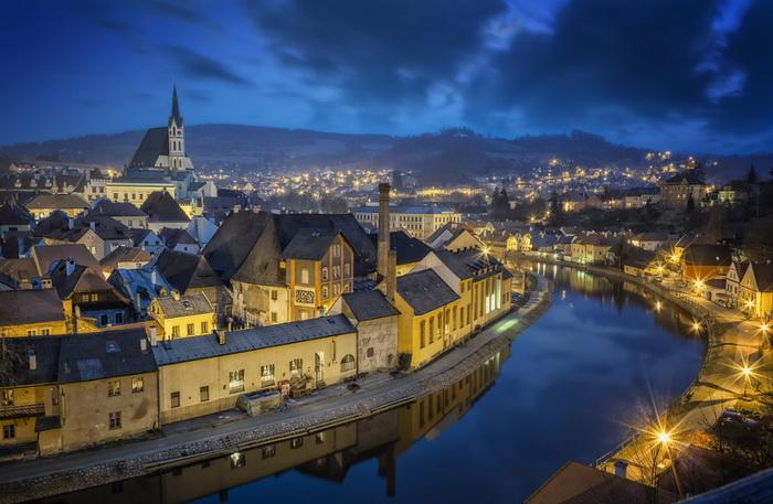 Ночь и волшебный город. Чески-Крумлов