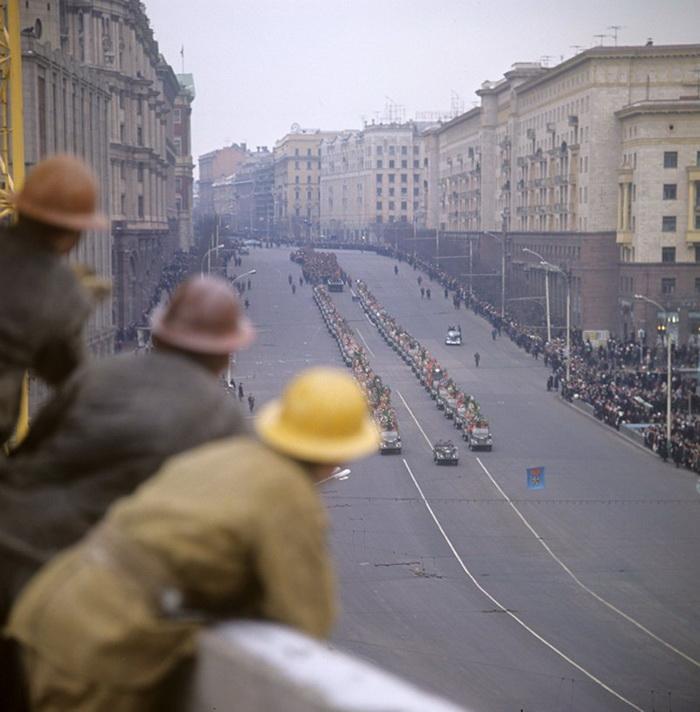 Церемония захоронения останков Неизвестного солдата в Москве, 1966 год