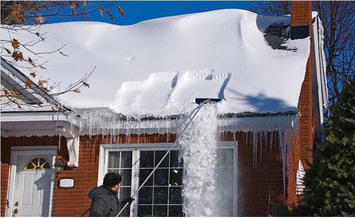 как избавиться от снега на крыше